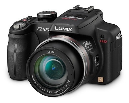 Panasonic LUMIX DMC-FZ100 Camera with 24x Zoom and Full HD Video Recording