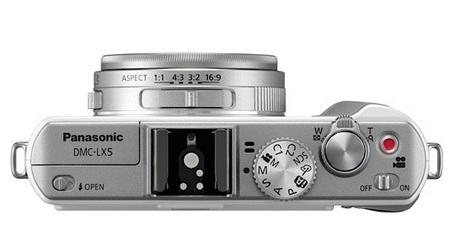 Panasonic Lumix DMC-LX5 Digital Camera top