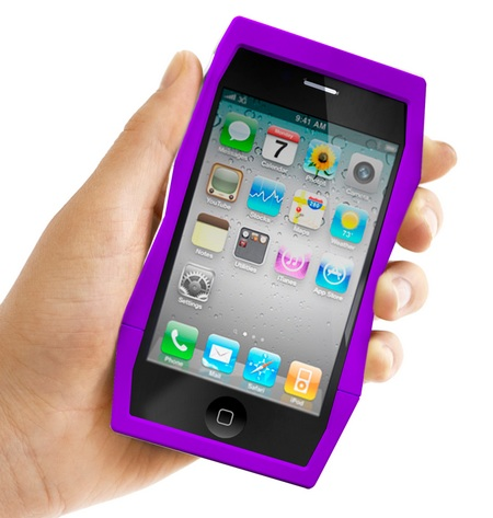 Quirky Tilt iPhone 4 Case Doubles as a stand on hand