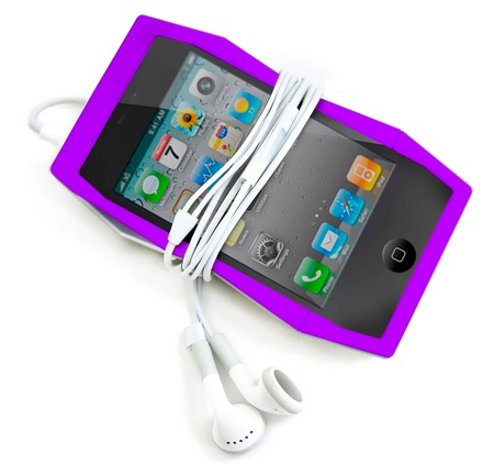 Quirky Tilt iPhone 4 Case Doubles as a stand with headset
