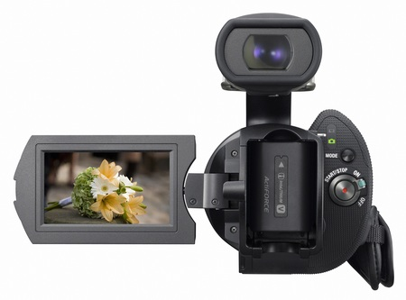 Sony Handycam NEX-VG10 - The First Interchangeable Lens HD Camcorder display