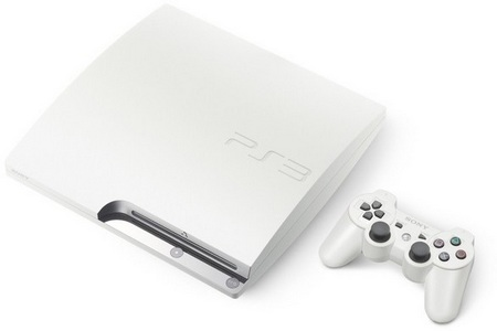 Sony PS3 Slim Now in White with 160GB HDD