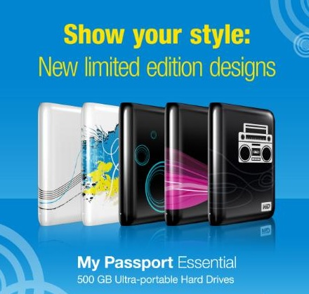 WD My Passport Essential Portable Hard Drive with Limited Edition Designs