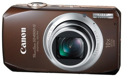 Canon PowerShot SD4500 IS with 10x Optical Zoom front