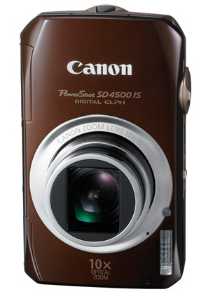 Canon PowerShot SD4500 IS with 10x Optical Zoom vertical