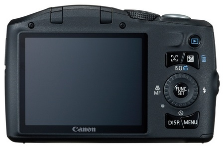 Canon PowerShot SX130 IS 12x Ultra Zoom Camera back