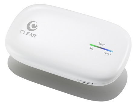Clearwire iSpot 4G Personal Mobile Hotspot supports Apple's iDevices