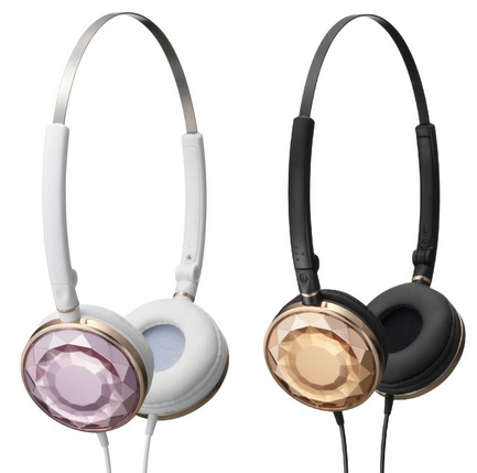 JVC-Victor HA-SP70 URBANE SWEET Headphones gold pink