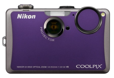 Nikon CoolPix S1100pj Projector Camera purple