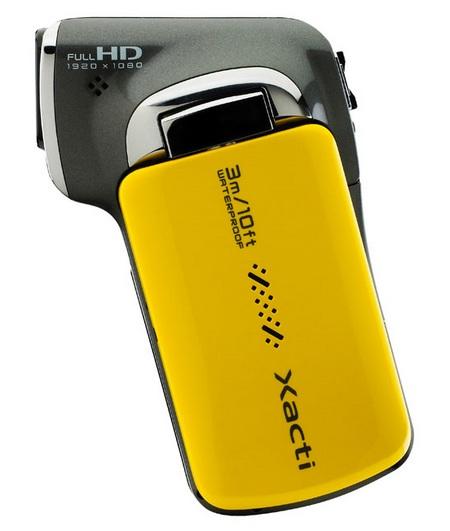 Sanyo Xacti VPC-CA102YL Waterproof Full HD Camcorder side