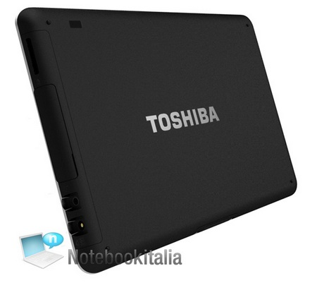 Toshiba Tablet Folio 100 runs Android 2.2 with Tegra 2 back