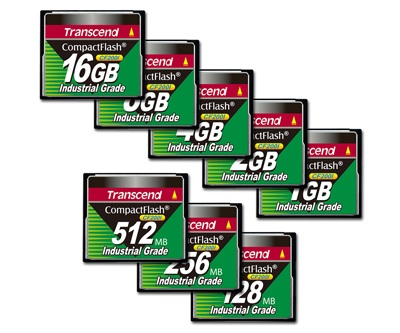 Transcend CF200I Advanced Industrial Grade CompactFlash Memory Cards