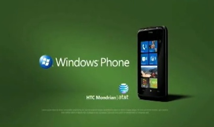 AT&T HTC Mondrian Windows Phone 7 ads