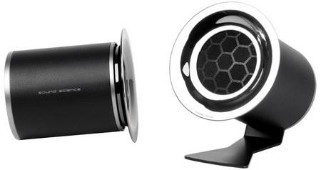 Antec Sonicscience Rockus 3D 2.1 Speaker System satellites