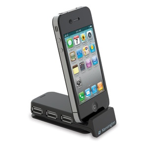 Kensington PocketHub 3-Port USB and Sync with iPhone Dock