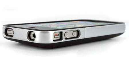 Mophie juice pack air iPhone 4 Battery Case side