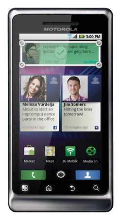 Motorola Milestone 2 Android Smartphone portrait