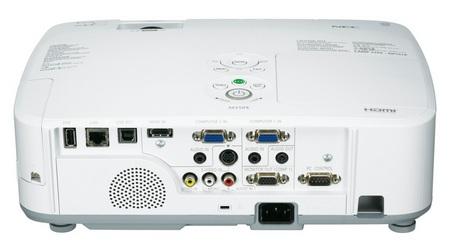 NEC M260X, M260W and M300X Portable Series Projectors back
