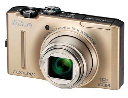 Nikon CoolPix S8100 Digital Camera gold