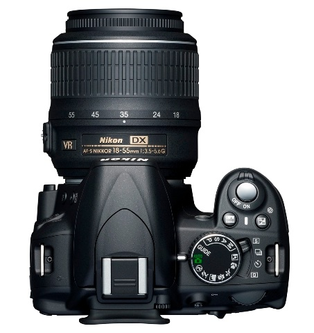 Nikon D3100 Entry-level DSLR top