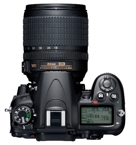 Nikon D7000 DSLR Camera 1080p Full HD Video top