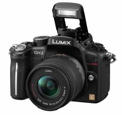 Panasonic LUMIX DMC-GH2 Hybrid Touch-Control Micro Four Thirds Camera flash