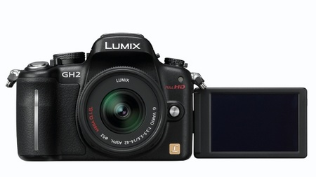 Panasonic LUMIX DMC-GH2 Hybrid Touch-Control Micro Four Thirds Camera rotating lcd