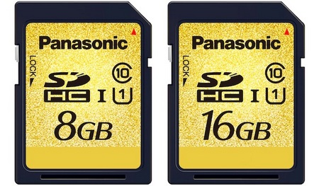 Panasonic RP-SDY08G and RP-SDY16G SDHC UHS-I Memory Cards