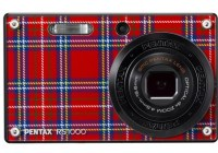 Pentax Optio RS1000 Digital Camera with Interchangeable Faceplate plaid