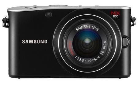 Samsung NX100 Mirrorless Camera front