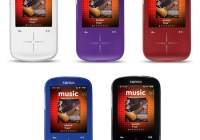 SanDisk Sansa Fuze+ Portable Media Player colors
