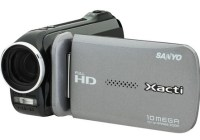 Sanyo Xacti VPC-GH4 Full HD Dual Camera with Thumb-Operable, 2-Position Record Buttons