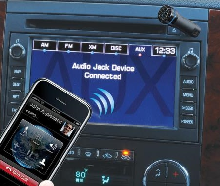 Scosche motorMOUTH II Bluetooth Car Kit in use