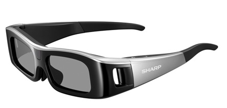 Sharp AQUOS Quattron 3D LE925 series 3D HDTVs 3d glasses