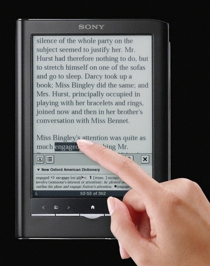 Sony PRS-650 Reader Touch Edition e-book reader pinkTouch