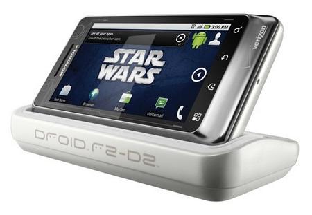 Verizon Motorola DROID R2-D2 Limited Edition docked