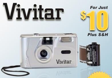 Vivitar launches $10 35mm Film Camera