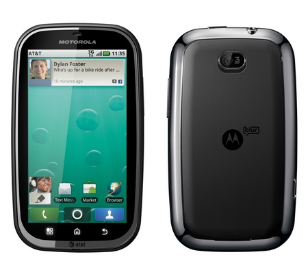 AT&T Motorola BRAVO with MOTOBLUR Android Smartphone front back