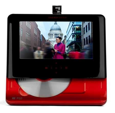 Energy Sistem M2700 Shift Ruby Red Portable DVD Player front