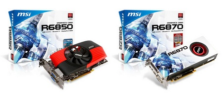 MSI R6870-2PM2D1GD5 and R6850-PM2D1GD5 Graphics Cards