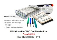 OWC DIY Hard Drive Kit with OWC On-The-Go Pro