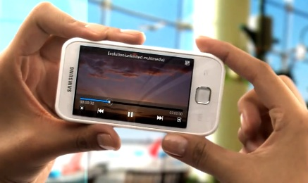 Samsung Galaxy player 50 in video.
