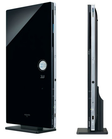 Sharp AQUOS BD-AV70 35mm Ultra Slim 3D Blu-ray Recorder stand