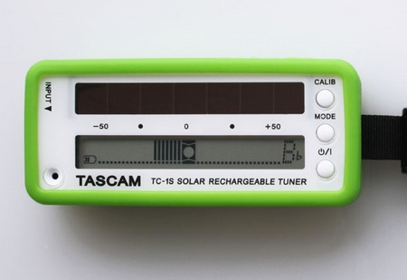 Tascam TC-1S Solar-Powered Instrument Tuner green