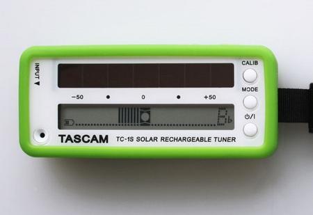 Tascam TC-1S Solar-Powered Instrument Tuner green