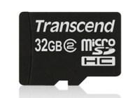 Transcend 32GB Class 2 microSDHC Memory Card