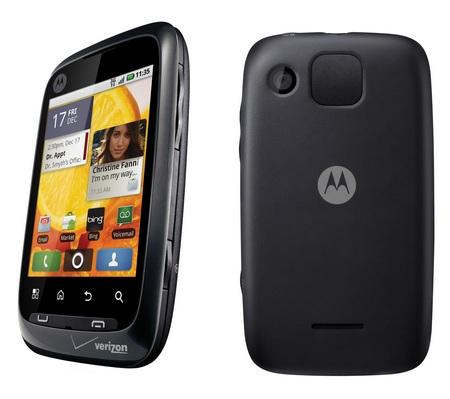 Verizon Motorola CITRUS Entry-level Android Smartphone back