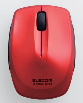 Elecom M-BT6BL Bluetooth 3.0 Mouse red
