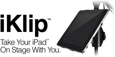IK Multimedia iKlip Microphone Stand Adapter for iPad 2
