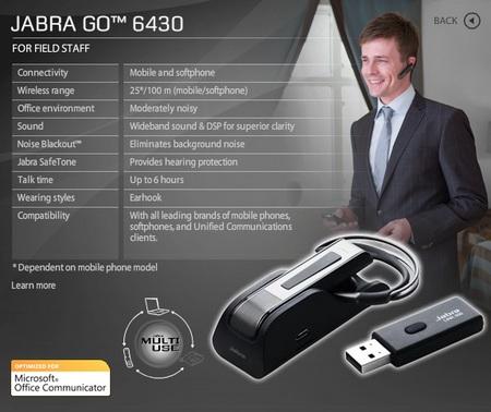 Jabra GO 6430 Headset Microphone Lync